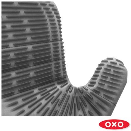 Luva de Silicone Curta OXO, Preto, Silicone, 01 Peça, 03 meses