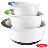Conjunto de Tigelas em Plástico 03 Peças Branco e Preto - OXO