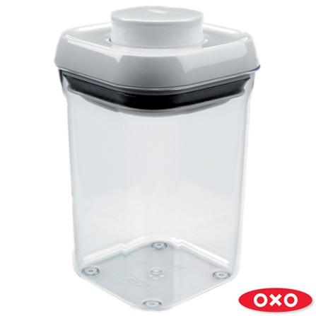 Pote Quadrado em Acrilico de 900ml - Oxo + Pote Quadrado em Acrilico de 750ml - Oxo, 0
