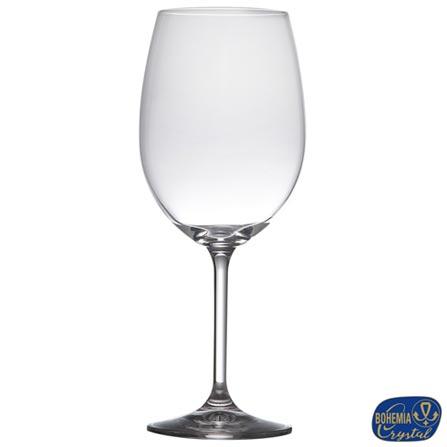 Conjunto de Taças para Vinho em Cristal de 580 ml com 06 Peças - Bohemia - 5251, Não se aplica, Cristal, 06 Peças, 580 ml, 03 meses