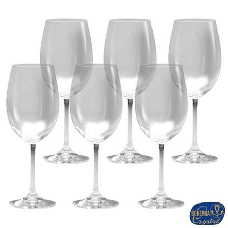 Conjunto de Taças para Vinho Tinto em Cristal de 450 ml com 06 Peças - Bohemia, Não se aplica, Cristal, 06 Peças, 450 ml, 01 mês