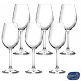 Conjunto de Taças para Vinho Branco em Cristal de 350 ml com 06 Peças - Bohemia