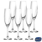 Conjunto de Taças para Champanhe em Cristal de 220 ml com 06 Peças - Bohemia