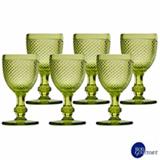 Conjunto de Taças para Água em Vidro de 234 ml com 06 Peças Verde - Bon Gourmet