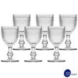 Conjunto de Taças para Vinho em Vidro de 130 ml com 06 Peças - Bon Gourmet