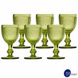 Conjunto de Taças para Vinho em Vidro de 130 ml com 06 Peças Verde - Bon Gourmet