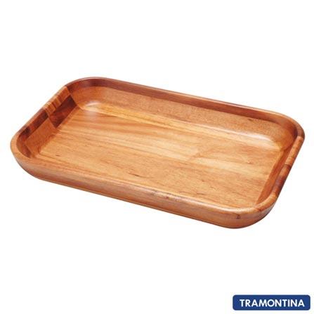 Gamela Retangular - Tramontina 10022100, Não se aplica, Retangular, Madeira