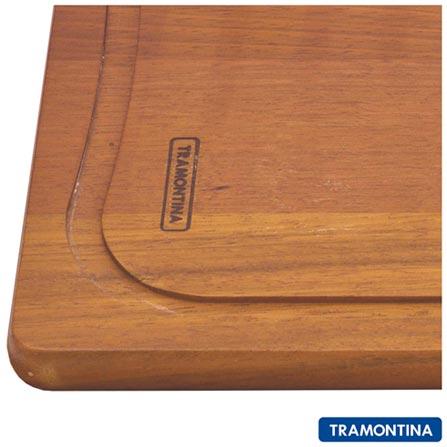 Tábua de Corte Retangular de Madeira - Tramontina, Não se aplica, 12 meses
