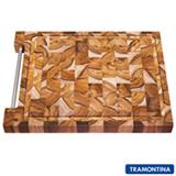 Tábua de Corte para Churrasco Retangular de Madeira Invertida Teca - Tramontina