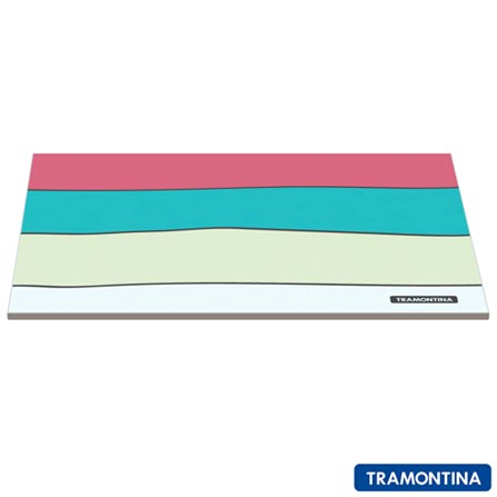 Tábua de Corte Retangular de Vidro - Tramontina, Colorido, 12 meses