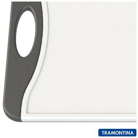 Tábua de Corte Retangular Média de Plástico - Tramontina, Branco e Preto, 12 meses