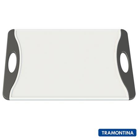 Tábua de Corte Retangular Grande de Plástico - Tramontina, Branco e Preto, 12 meses