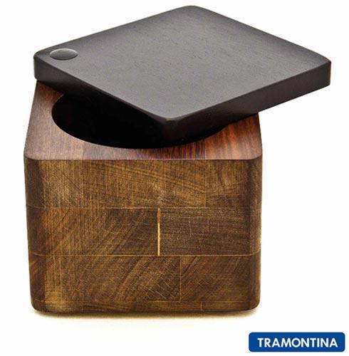 Saleiro Tramontina Design Collection Gourmandise Quadrado, Não se aplica, Madeira, 01 Peça, 12 meses