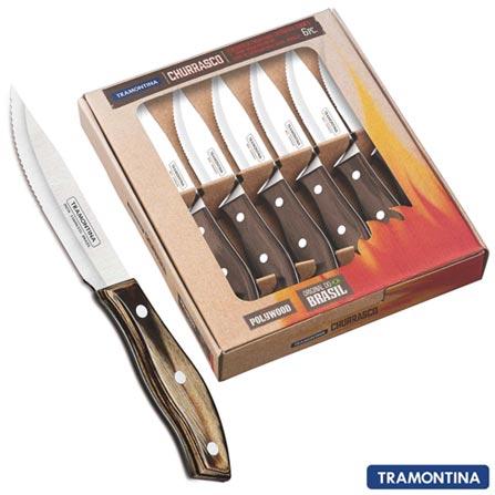 Conjunto de 6 Facas para Churrasco Jumbo - Tramontina, Não se aplica, Não especificado, Até 30 peças, 06 Peças, Vitalícia