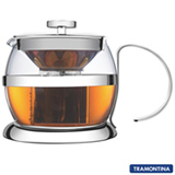 Bule para Chá com Capacidade de 900 ml em Vidro e Aço Inox - Tramontina