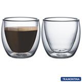 Conjunto de Xicaras para Café em Vidro com 02 Peças - Tramontina