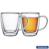 Conjunto de Xicaras para Chá em Vidro com 02 Peças - Tramontina