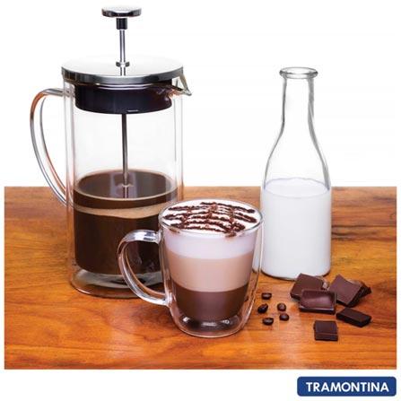 Conjunto de Xicaras para Chá em Vidro com 02 Peças - Tramontina, Não se aplica, 0,27 Litros, Vidro