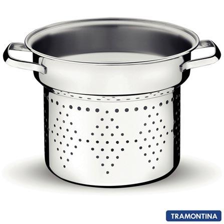 Espagueteira em Aço Inox com 03 Peças Allegra - Tramontina, Inox, Espagueteira, 03 Peças, Diversos, Inox, 20 cm, 03 meses