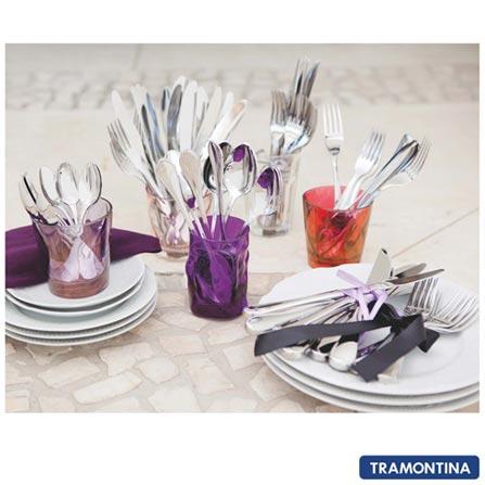 Faqueiro com 130 Peças Italy - Tramontina, Inox, Inox, Acima de 100 peças, 130 Peças