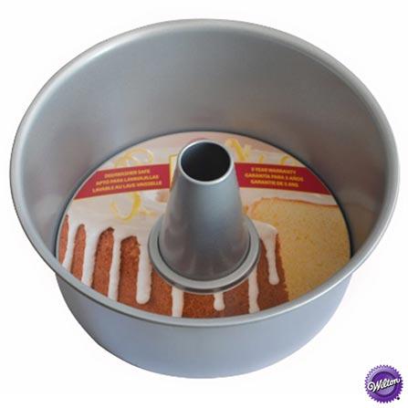 Forma Redonda de 23 cm em Aço Antiaderente com Fundo Removível - Wilton, Cinza, Formas, 01 Peça, Aço antiaderente, Redondo, 03 meses