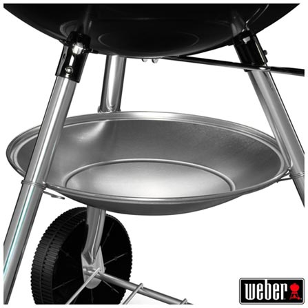 Churrasqueira Weber One Touch Silver em Aço Esmaltado, Aço esmaltado, Carvão, 52 cm de largura, 12 meses