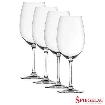 Conjunto de Taças Spiegelau Salute para Vinho Bordeaux com 04 Peças - 4080120184, Não se aplica, Vidro, 04 Peças, 710 ml, 03 meses