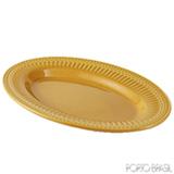 Travessa Oval Média Acervo Panelinha Curry em Cerâmica Faiança Feldspática - 1143064501