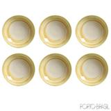Conjunto de Pratos Fundo com 06 Peças em Cerâmica Coup Espiral - Porto Brasil