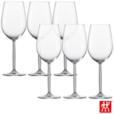 Conjunto de Taças Diva para Bordeaux em Cristal com Titânio 591 ml com 06 Peças - Schott Zwiesel