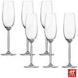Conjunto de Taças Diva para Champagne e Prosseco em Cristal com Titânio 219 ml com 06 Peças - Schott Zwiesel