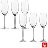 Conjunto de Taças Diva para Champagne em Cristal com Titânio 293 ml com 06 Peças - Schott Zwiesel