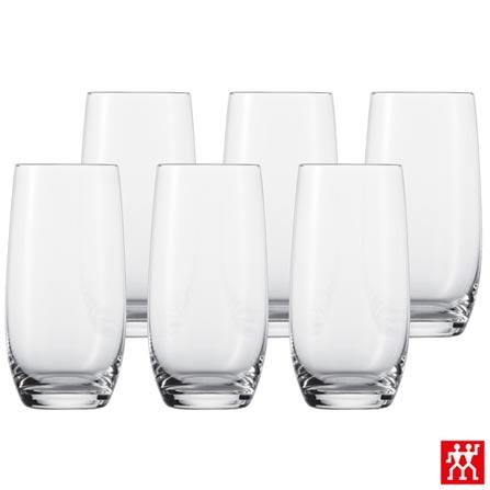 Conjunto de Copos Longdrink em Cristal de 540 ml com 06 Peças - Schott Zwiesel, Não se aplica, Cristal, 06 Peças, 540 ml, 03 meses