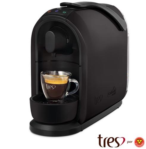 Cafeteira Três Corações Mimo S24 Preta para Café Espresso - 2003894, 110V, 220V, Preto, Espresso automática, Cápsulas