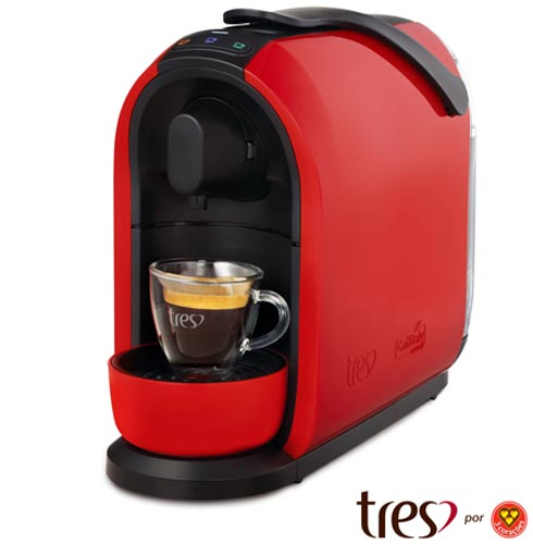 Cafeteira Três Corações Mimo S24 Vermelha para Café Espresso - 2003894, 110V, 220V, Vermelho, Espresso automática, Cápsulas