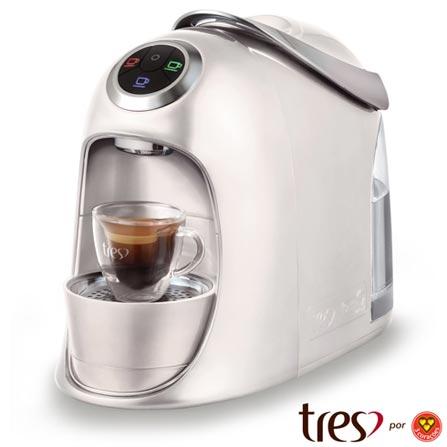 Maquina de Café Três Corações Versa Branca para Café Espresso - S20VERSA, 110V, 220V, Branco, Espresso automática, Cápsulas, 1,2 Litros, 2 e 15 Bars, Não especificado, Diversos sabores, Não especificado, 1050 W, 12 meses