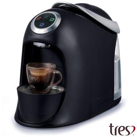 , 110V, 220V, Preto, Espresso automática, Cápsulas, 1,2 Litros, 2 e 15 Bars, Não especificado, Diversos sabores, Não especificado, 110 V - 1050 W e 220 V - 950 W, 12 meses