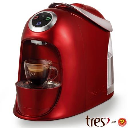 Maquina de Café Três Corações Versa para Café Espresso - S20VERSA, 110V, 220V, Vermelho, Espresso automática, Cápsulas, 1,2 Litros, 2 e 15 Bars, Não especificado, Diversos sabores, Não especificado, 110 V - 1050 W e 220 V - 950 W, 12 meses