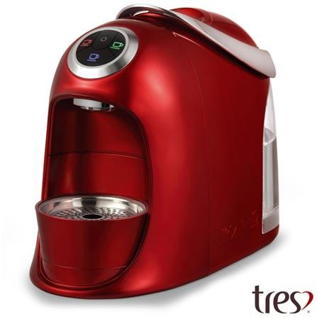 , 110V, 220V, Vermelho, Espresso automática, Cápsulas, 1,2 Litros, 2 e 15 Bars, Não especificado, Diversos sabores, Não especificado, 110 V - 1050 W e 220 V - 950 W, 12 meses