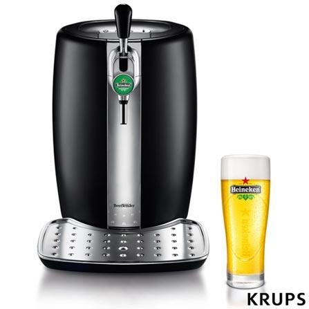 Chopeira Beertender Krups Heineken com Capacidade de 5 Litros Preto - B100, 110V, 220V, Preto, 05 Litros, Preto, 24 meses, Inox