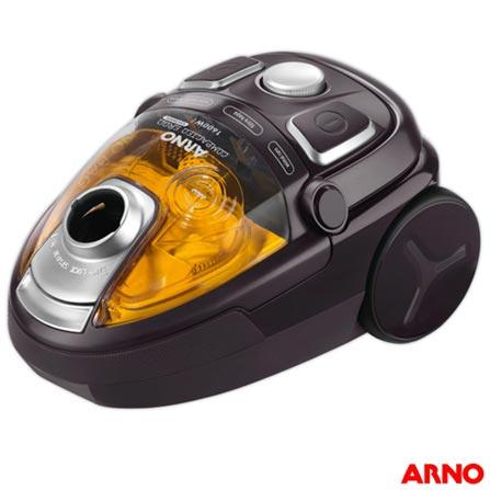 Aspirador de Po Compacto Arno Ergo Cyclonic Animal Care - CYAC, 110V, 220V, Preto e Amarelo, Pó, Não especificado, Recipiente Plástico, Não, 0,09 kW/h, 1600 W, 12 meses