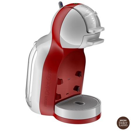 Cafeteira Arno Dolce Gusto Mini Me Vermelha para Café Espresso, 110V, 220V, Vermelho, Espresso automática, Cápsulas, 0,8 Litros, 15 Bars, 01 xícara, Diversos sabores, Metal e Plástico, 1340 W