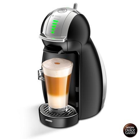 , 110V, 220V, Preto, Espresso automática, Cápsulas, 0,8 Litros, 15 Bars, 01 xícara, Café Espresso e Lungo, Metal e Plástico, 110 V - 1460W e 220V - 1340W, 12 meses