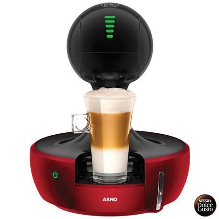Cafeteira Arno Dolce Gusto Vermelha e Preta Multibebidas - DROP, 110V, 220V, Preto e Vermelho, Espresso automática, Cápsulas, 0,8 Litros, 15 Bars, 01 xícara, Diversos sabores, Não especificado, 110 V - 1460W e 220V - 1340W, 12 meses