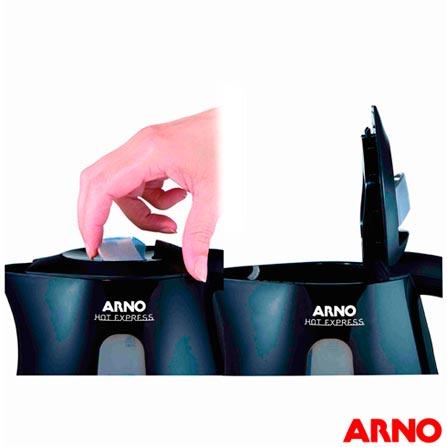 Chaleira Elétrica Arno Hot Express com Capacidade para 1,5L - KAEX, 110V, 220V, Preto, 1,5 Litros, 110 V - 1500 W e 220V - 2000 W, 12 meses