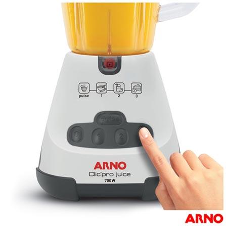 Liquidificador Arno Clic'Pro Juice com 03 Velocidades e Jarra com 1,6 Litros - LN4J, 110V, 220V, Branco, Plástico, 3, 1,6 Litros, Sim, 700 W, Nacional, 12 meses