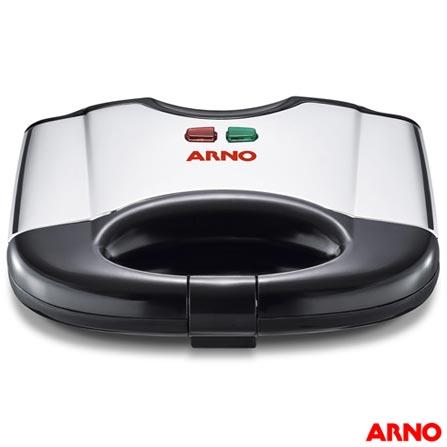 Sanduicheira Arno com Capacidade para 02 Fatias de Pão - SACS, 110V, 220V, Inox, 02 fatias, Grelhar, 700 W, 12 meses