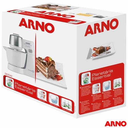 Batedeira Planetária Arno Essential com 5 Velocidades - SX70, 110V, 220V, Branco, 03 Litros, 5, 300 W, 12 meses