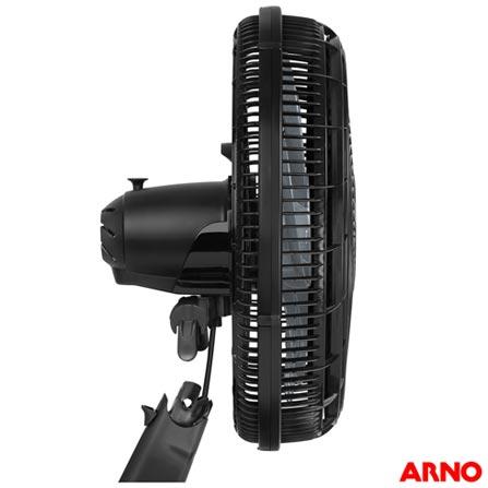 Ventilador de Mesa Silence Force VF40 com 03 Velocidades Preto e Prata - Arno, 110V, 220V, Preto e Prata, Mesa, 03, 06, Não, 126 W