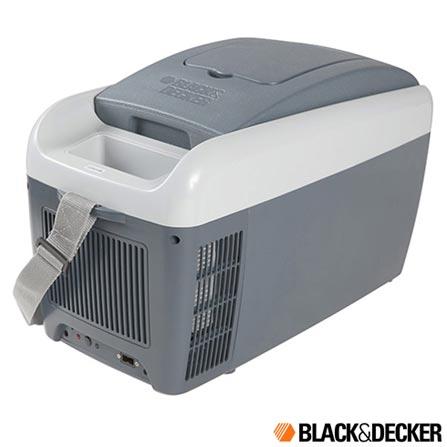 Geladeira Portátil Termoelétrica Black & Decker com Capacidade de 8 Litros Cinza - BDC8L, Cinza, Geladeira Portátil